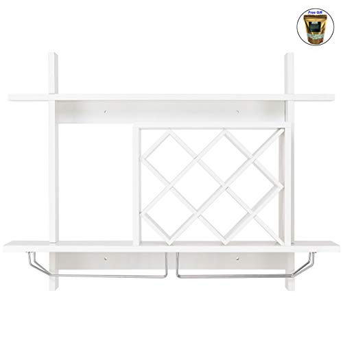 (CWY Wall Mount Wine Rack Glass Holder & Storage Shelf Only by eight24hours)