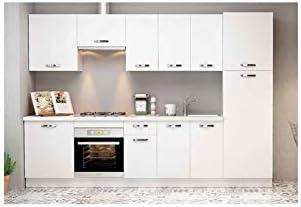 MD BLOCK - Cocina Completa con despensero sin zocalo y sin encimera - Blanco: Amazon.es: Hogar