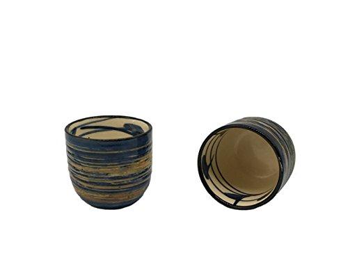 KCHAIN 5 in 1 Ceramic Sake Set Hand Painted Color (Blue) by KCHAIN (Image #5)