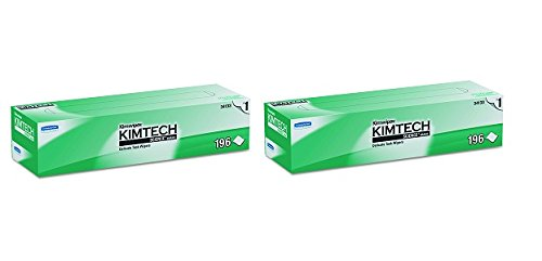 Kimwipes Delicate Task Kimtech Science Wipers (34133), White, 1-PLY, 15 Pop-Up Boxes / Case, 196 Sheets / Box, 2,940 Sheets / Case (2-(15 Pop-Up Boxes/Case))