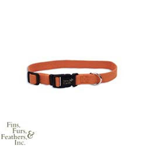 New Earth Soy Dog Collar 12-18In x 3/4In Pumpkin, My Pet Supplies
