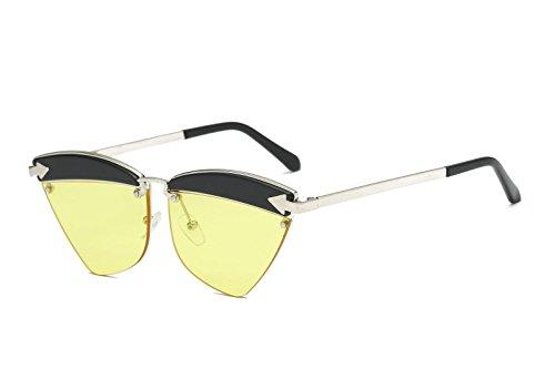 D polarizadas Retro la Sol Ojos de Mujer los Sol Hombre de Gafas Personalidad de Intellectuality a Gafas qtUga