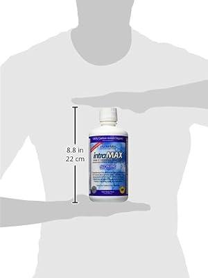 intraMAX Liquid Nutrition, Peach Mango Flavor, 8g fiber/4g protein per serv., Vitamins, Minerals, Enzymes, Fiber, 32oz(946ml) - 1 Month Supply