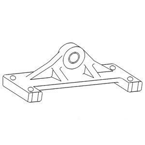Axle Pivot Support - Rear ()