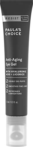 Paulas Choice RESIST Anti-Aging Eye Gel w/Hyaluronic Acid, 0.5 oz Tube Moisturizing Treatment for Fine Lines and Puffiness in the Under Eye Area