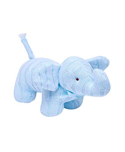 Baby Mode Signature Cable Knit Snuggle Elephant (Blue)