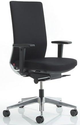 Anteo Aluminium Swivel Chair With Arms Office Chair Office Chair Work Chair Black Amazon De Burobedarf Schreibwaren