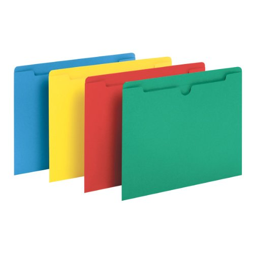 Globe-Weis/Pendaflex Colored File Jackets, Reinforced Tab, Flat, Letter Size, Assorted Colors, 100 Jackets Per Box (B3010DTAST)