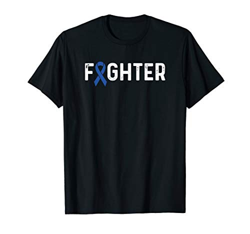 (Colorectal Cancer Awareness Products Blue Ribbon Fighter)