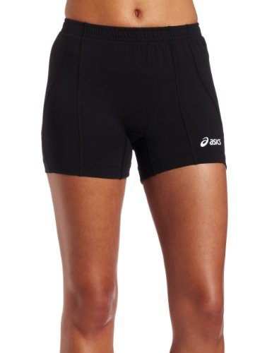 - ASICS Women's Baseline Volleyball Shorts, Black, Medium