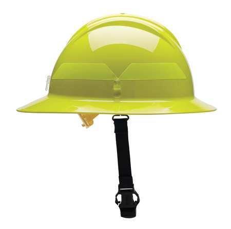 Fire Helmet, Lime-Yellow, Thermoplastic by Bullard (Image #1)