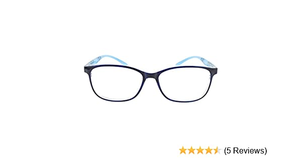 4f8398abe7 Amazon.com  EyeBuyExpress Bifocal Prescription Mens Womens Blue Crystal  Clear Marble Rounded Rectangular Reading Glasses Anti Glare Quality +3.00   Health ...