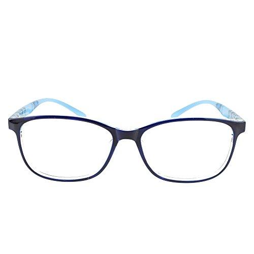 Eye Buy Express Bifocal Prescription Mens Womens Blue Crystal Clear Marble Rounded Rectangular Reading Glasses Anti Glare Quality - Reading Online Glasses Custom