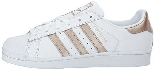 Baskets Femme Blanc Pour Adidas Superstar Cuir En rRYwHrq4z