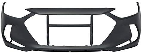 Koolzap For CAPA 17-18 Elantra Sedan USA Built Front Bumper Cover Assembly w//o Tow Hook Hole