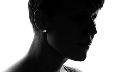Barzel 18K Gold Plated Gold 10mm Woven Love Knot Stud Earrings