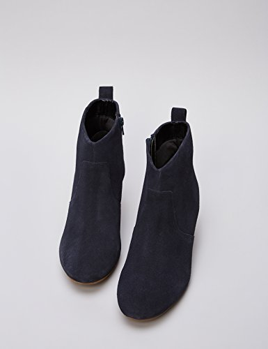 Navy Leather Boot Western Ankle Blue FIND qtXHq