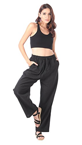 CandyHusky-100-Hemp-Womens-Casual-Lounge-Drawstring-Pants