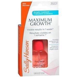 Sally Hansen Maximum Growth Nail Treatment, Clear 0.45 oz by AB