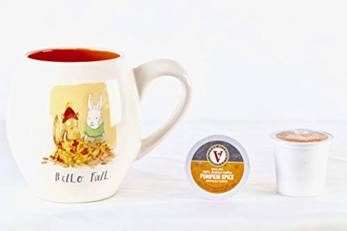 Rae Dunn Hello Fall Mug and 2 Victor Allen Pumpkin Spice Brew Cups ()