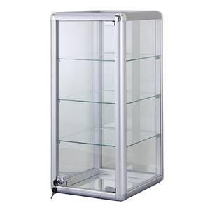 3 Shelf Aluminum Frame Glass Countertop Showcase Countertop Showcase