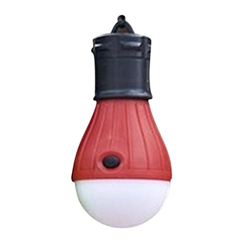 Outdoor Portable Hanging LED Camping Tent Light Bulb Fishing Lantern Lamp,Tuscom (Red)