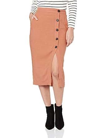 Sass Women's Into The Wild Buttoned Skirt, Amber, 10