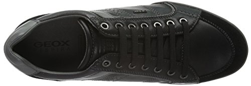 Geox Mens Kristof A Walking Shoe Black/Dark Grey 9AhXGzp
