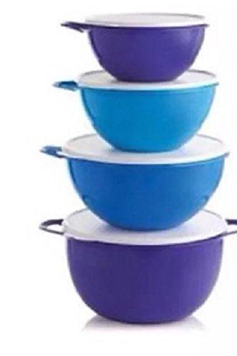 Tupperware Thatsa Bowl Set of 4 Bowls, Various Blues and ...