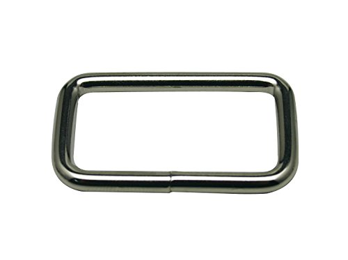 (Generic Metal Silvery Rectangle Buckle 1.5