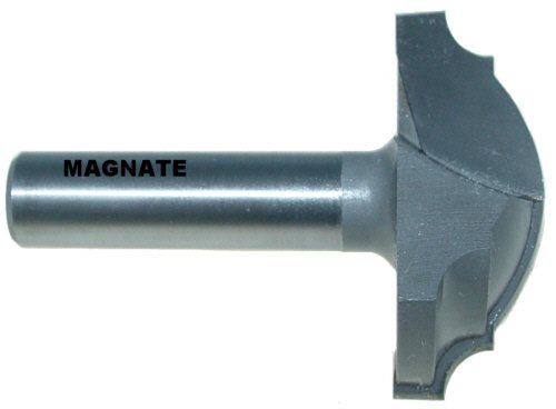 Magnate 3942 Large Cove Classic Plunge Carbide Tippe Router Bit - 2 Cutting Diameter