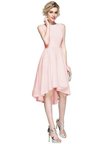 JYDress - Vestido - trapecio - para mujer rosa rosa 46