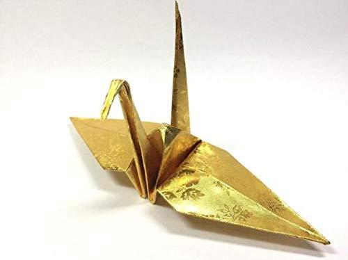 Amazon.com: 100 Origami Paper Crane in Gold With Rose ...
