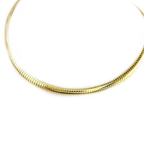 Les Trésors De Lily [L7648] - Collier 'Maille Omega' doré (38 cm 7 mm)