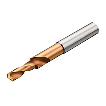 Short Length Round Shank Multilayer Finish 140 Degree Point Sandvik Coromant CoroDrill Delta-C R841 Carbide Drill Bit 12.1mm Size Coolant Through