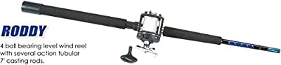 Master Fishing Tackle Mounted Line Salt Water Casting Series Rod Combo with 4 Ball Bearings for 181/PS270 (1 Piece), 7'