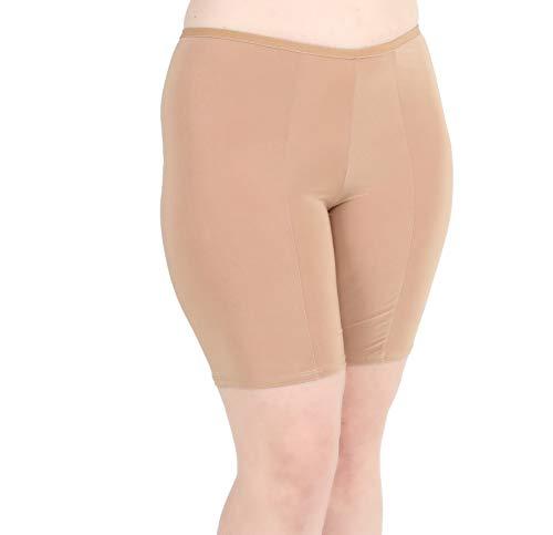 Undersummers Classic Shortlette: Rash Guard Slip Shorts (X-Large, Beige)