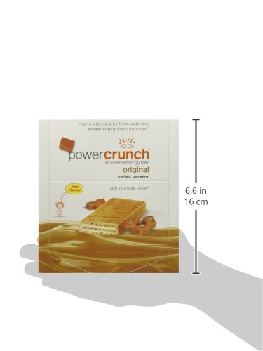 Bioengineered Nutrition Research Group Power Crunch, Salted Caramel, 12 Count (Pack of 6)