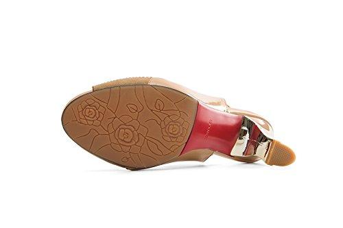 AdeeSu Womens Non-Marking Cold Lining Fashion Urethane Sandals SLC03895 Apricot Pl6FlZdeQ
