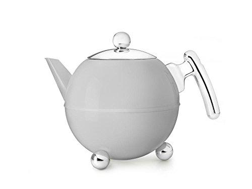 Bredemeijer 41 fl oz Teapot SS Cloudy Grey BELLA RONDE