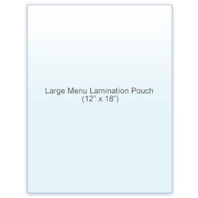 5 Mil Menue Size Lamination Pouch Letter Size Clear (12'' x 18'') 100 Pcs. Double letter size