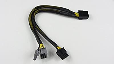 PCI-Express PCIE 8 Pin to Dual 8 (6+2) Pin Video Card Y-Splitter Adapter Power Supply Cable