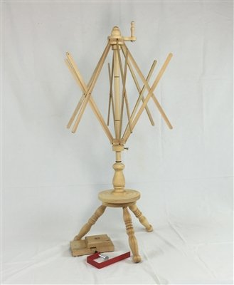 Strauch Yarn Swift / Skeinwinder Combination Table & Floor Model Maple Strauch Fiber Equipment