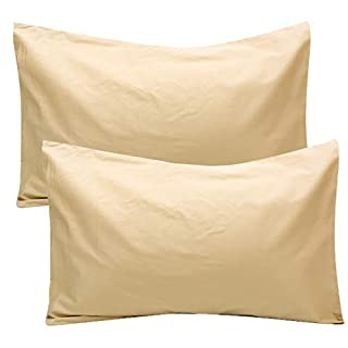 UOMNY Toddler Pillowcases 2 Pack 100% Cotton Pillow Cover 14x20 Baby Ultra Soft Pillow Cases for Sleeping Tiny Pillows case for Kids Solid Pillowcases Travel Pillowcases Beige Kids' Pillowcases
