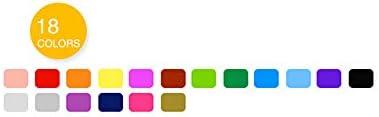 Refaxi 眩しいカラーロッド水溶性回転ブラシクレヨン油絵スティック子供の絵画スティック学生文具(18色24 * 17.5 * 2.3 CM)