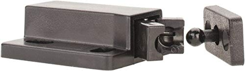 1-3/8'' Long x 3/4'' Wide x 1/2'' High, Plastic Compact Safe Push Latch - MC-28 Catch pack of 10