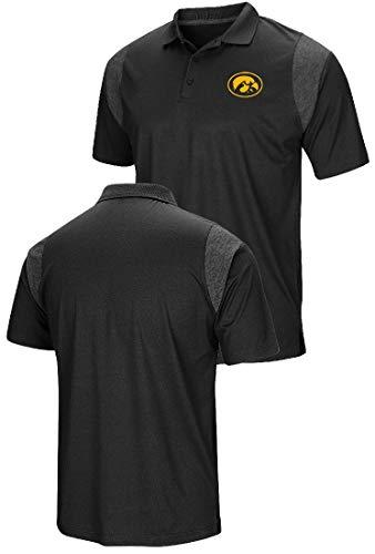 - Colosseum Iowa Hawkeyes Mens Black Friend Polo Shirt (X-Large)