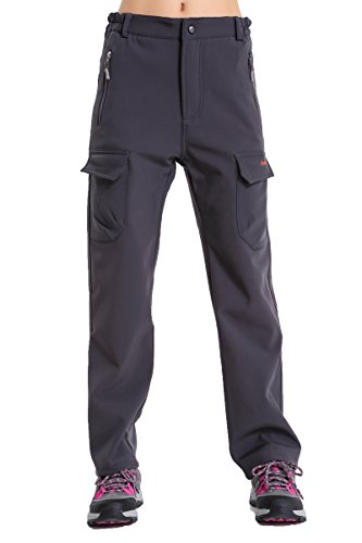 Women's Fleece-Lined Soft Shell Cargo Pants, Insulated, Water and Wind-Resistant (Screen Fleece Zip)