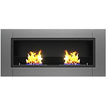 Amazon Com Anywhere Fireplace Soho Stainless Steel Wall