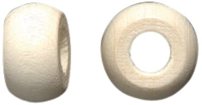(Shipwreck Beads Czech Traditional Opaque Wood Crow Beads, 6 by 10mm, Natural Raw, 6 by 10-mm, )